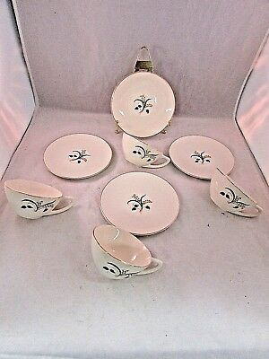 4 Knowles China Forsythia CUPS & SAUCERS