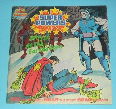 1985 DARKSEID SUPERMAN SUPER POWERS Paperback Book Battle at the Earths Core 259