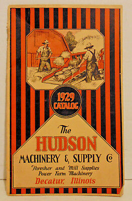 1929 Hudson Machinery & Supply, Decator, IL, Thresher & Mill Supplies,Farm Mach.