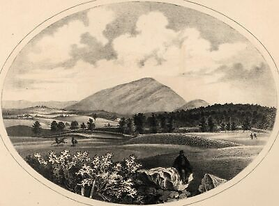 Ascutney Mountain Reading Vermont 1861 lithographed view print