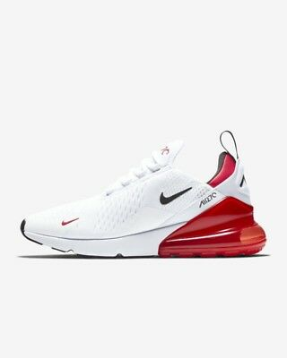 Nike Air Max 270 Men's Shoe White/University Red/Black Sizes 7-15