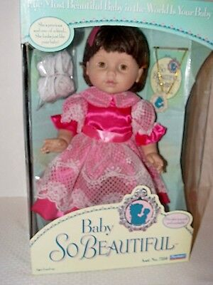 New Old Stock 1995 Playmates Baby So Beautiful Doll- No.7350 MINT Playmates Vint