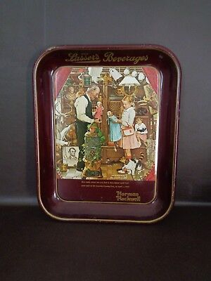 Lasser's Beverages 1977 April Fools Norman Rockwell Serving Tray (Cat.#5A087)