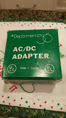 Dept 56 AC/DC Adapter  56.55026 Village Accessory Connects 3 items New in Box