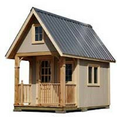 Cottage Bunkie / Tiny House Plans ~ FREE Shipping