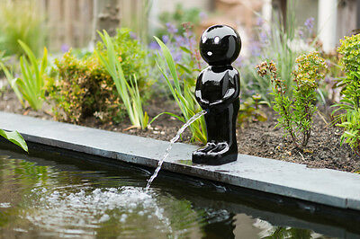 Water Feature Boy Black Manneken Pis 67 cm with Pump and Hose