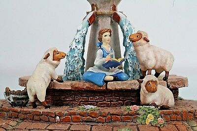 "Goebel Miniatures Beauty and the Beast ""The Fountain"" MINT Belle NIB Disney"