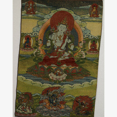 Tibet Collectable Silk Hand Painted  Painting Buddhism Thangka  RK004