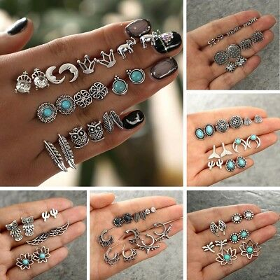 Wholesale A Set Of 12 Pairs Different Style Ear Studs Earrings Allergy Free New