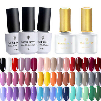 BORN PRETTY 5ml Vernis à Ongles Semi-permanent Nail Art Soak Off UV Gel Polish
