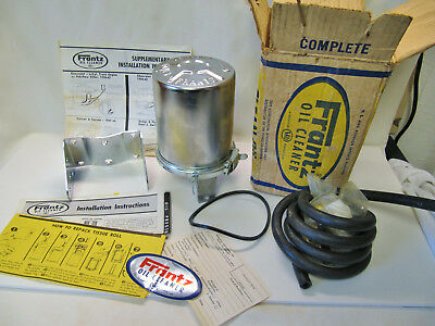 Vintage NOS FRANTZ OIL FILTER CLEANER Toilet Paper Unit New in Box Hot Rat Rod