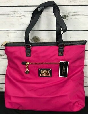 647afa83f Juicy Couture Penny Zip Tote Handbag XL YHRUO163 Pink Purse carryon SOLD OUT