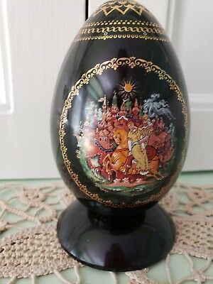 Russian EGG Porcelain, with Stand, RUSLAN AND LUDMILA