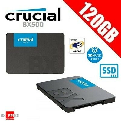 "Crucial BX500 120GB 3D NAND SATA 2.5"" SSD Solid State Drive SATA 540MB/s"