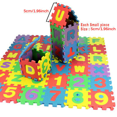 36 pcs Baby Kids Alphanumeric Educational Puzzle Blocks Infant Child Toy Gift CN