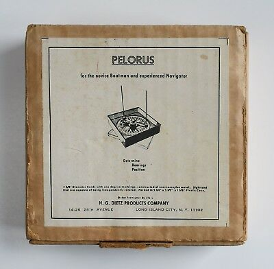 H. G. Dietz PELORUS Compass Tool to Determine Bearings Position MINT IN BOX