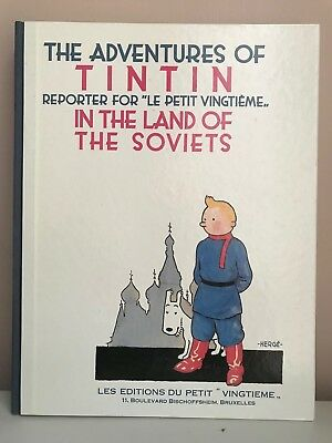 Tintin in the Land of the Soviets HC - 1989 Casterman Facsimile Edition - Herge