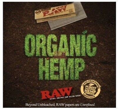 1 Pack Raw Organic Hemp King Size Slim Rolling Papers *GREAT PRICES*USA SHIPPED*