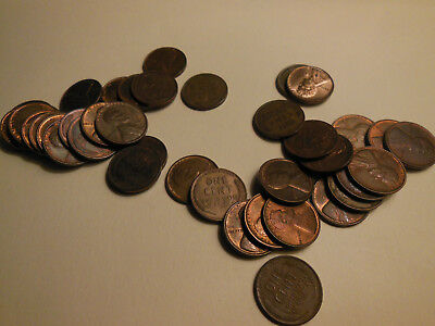 1934 1935 1936 P Lincoln cents choice AU  with some mint red luster 40 coins