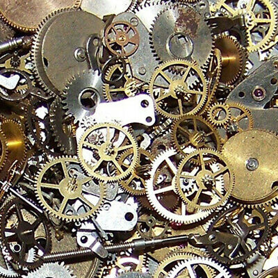 10g Mix Metal Bronze Silver Gold Steampunk Cogs and Gears Clock Hand Charm
