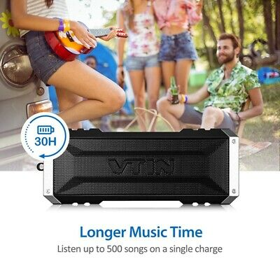 VTIN Bluetooth Wireless Lautsprecher 3D Stereo Super Bass Soundbox Freisprechen