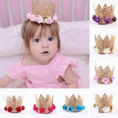 New Lace Princess Toddler Floral Headband Baby Girls Tiara Crown Headwear