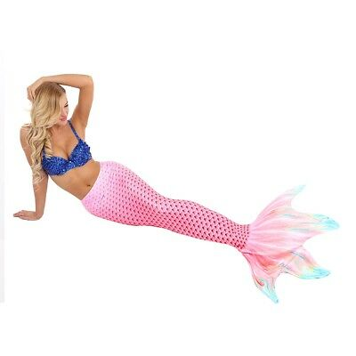 Fin Mermaid Tail Swimmable Tail Women Swimming High Waist Bikini Swimwear  S