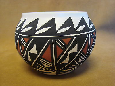 Native American Acoma Indian Pottery Hand Painted Pot by Cinch PT0150