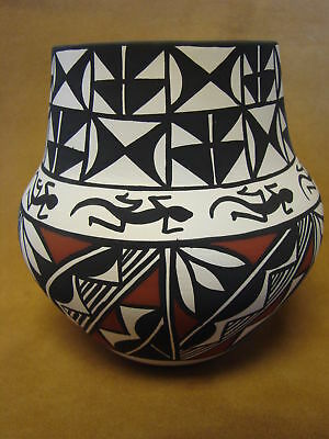 Native American Acoma Pot Hand Painted by Concho PT0078