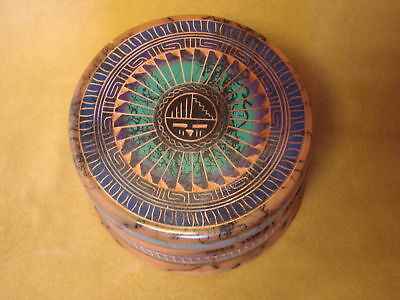 Navajo Hand Etched Horse Hair Trinket Box - Signed! PT0112