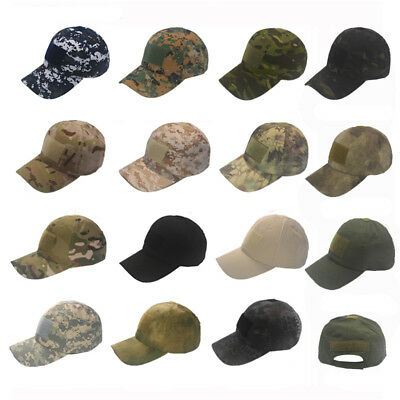 Tactical Operator Camo Baseball Hat Military Army Special Forces Badge Casual Ca