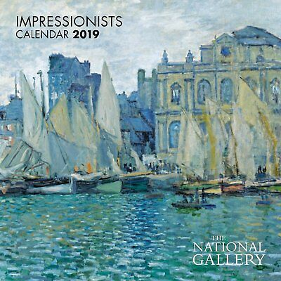 2019 National Gallery Impressionists Mini Wall Calendar by Flame Tree