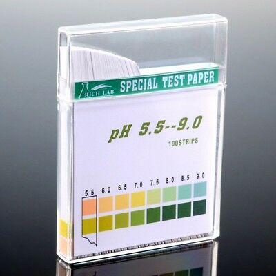 100x Strip PH Test Strips Precision 5.5-9.0 For Urine and Saliva Drinking Water