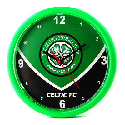 Celtic FC Wall Clock Bedroom Green Swoop Fan Gift New Official Licensed Product