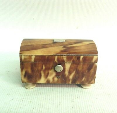 19Th Century Early Victorian  Faux Tortoiseshell Needle  Box Case