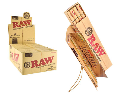 RAW Classic Masterpiece Box 24 PACKS - King Size Slim Papers + Pre Rolled Tips