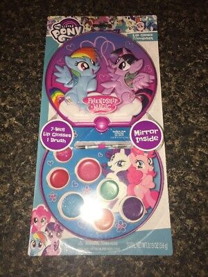My Little Pony Lip Gloss Compact Kid's Make-Up Set New