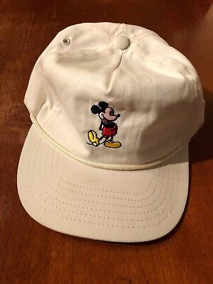 VINTAGE MICKEY MOUSE WALT DISNEY 1960s STYLE STRAP BACK HAT RETRO THROWBACK RARE