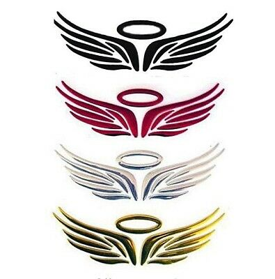 "HALO WINGS Metallic 3D Sticker Emblem 2"" x 6.25"" Car Truck Motorcycle Accessory"