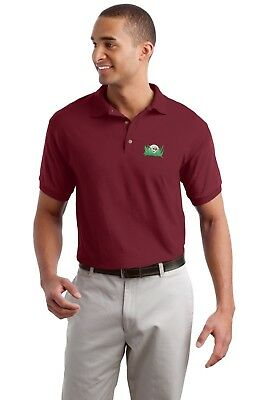 GOLF POLO SHIRT EMBROIDERED with FUNNY GOLF BALL uo to 5X