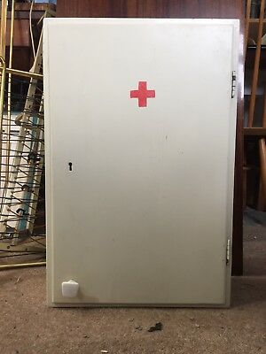 Vintage Bathroom Cabinet Made in Poland Wall Cupboard First Aid Kit