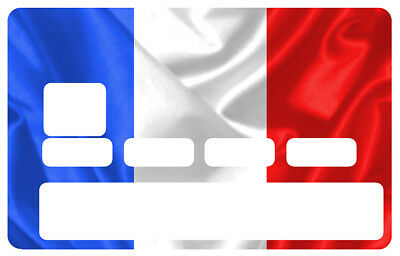 Sticker Drapeau Francais France Rf Carte Credit Bancaire Card Autocollant Cc080