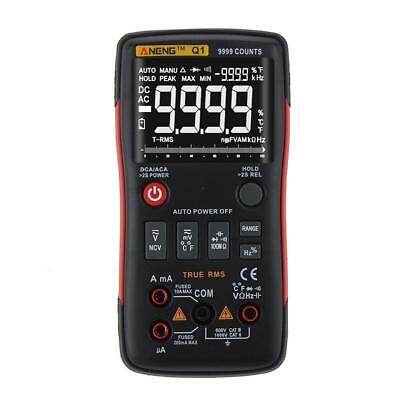 ANENG Q1 True-RMS Digital Multimeter Button 9999 Counts with Analog Bar Graph PK
