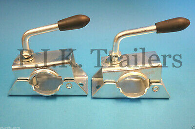2 x 42mm Clamps for Jockey Wheel & Prop Stand on Trailer