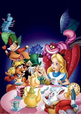 Alice In Wonderland Movie Poster  A5..A4..A3..A2.. Options