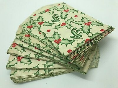 Over 100 Vintage Holly Paper Bags Christmas