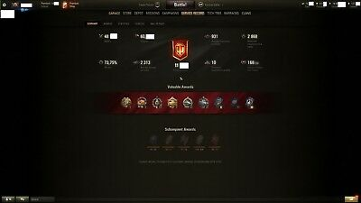 World of Tanks,Warschips.  EU Unicon Account All X tier Tanks 3000WN8 and Planes