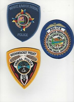 3 Different Police Patches