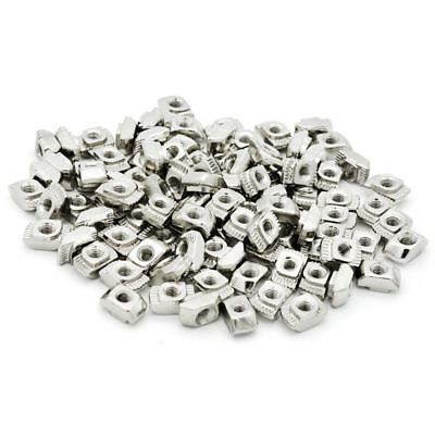 100pcs M5x10x6 For 20/30 Series Slot T-nut Sliding T Hammer Drop In Nut V3S5