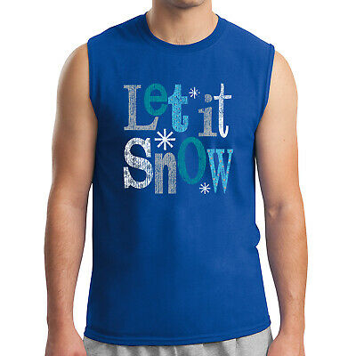 Let it snow for SKI Kid/'s T-shirt Winter theme snowflake Tee for Youth 2191C